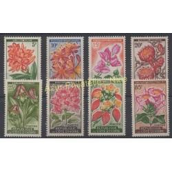 Côte d'Ivoire - 1961 - No 192A/ 198 - Fleurs