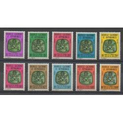 Nouvelle-Calédonie - Timbres de service - 1976 - No S21/S30