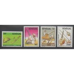 Senegal - 1985 - Nb 631/634 - Music