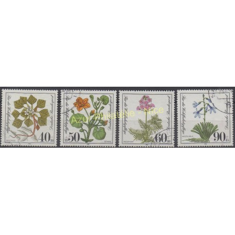 Allemagne occidentale (RFA) - 1981 - No 940/943 - Fleurs - Oblitéré