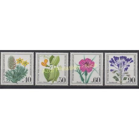Allemagne occidentale (RFA) - 1980 - No 905/908 - Fleurs