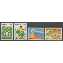 Senegal - 1986 - Nb 648/651 - Soccer World Cup