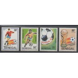 Sénégal - 1982 - No 575/578 - Coupe du monde de football