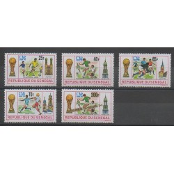 Sénégal - 1974 - No 401/404 - 407 - Coupe du monde de football