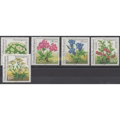 Allemagne - 1991 - No 1337/1341 - Fleurs
