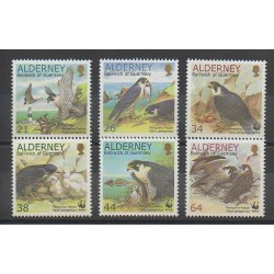 Aurigny (Alderney) - 2000 - No 146/151 - Oiseaux - World Wide Fund