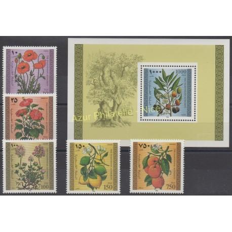 Palestine - 1996 - No 53/57 - BF 6 - Fleurs
