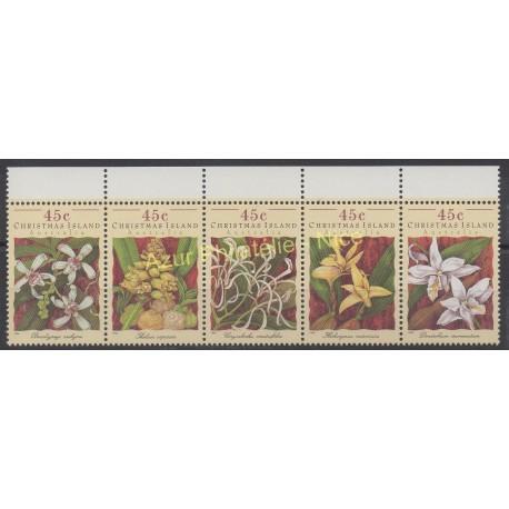 Christmas (Iles) - 1994 - No 405/409 - Fleurs