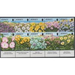 Jersey - 1995 - No 696/705 - Fleurs