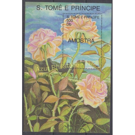 Saint-Thomas et Prince - 1991 - No BF 94 - Roses
