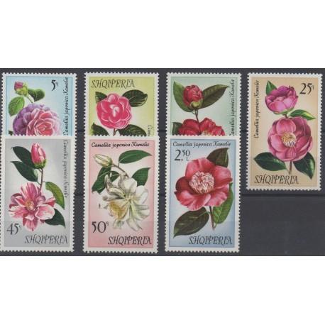 Albanie - 1972 - No 1362/1368 - Fleurs