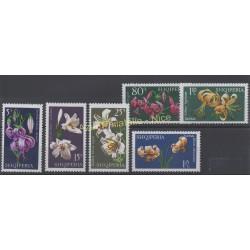 Albanie - 1970 - No 1224/1229 - Fleurs