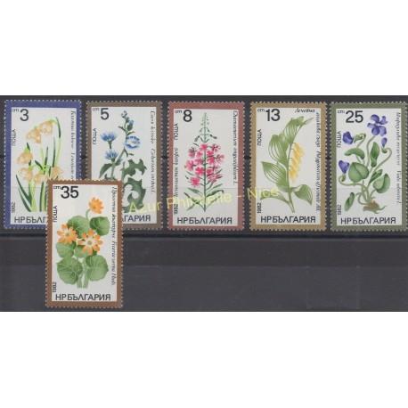 Bulgarie - 1982 - No 2696/2701 - Fleurs