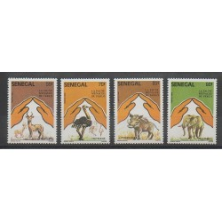 Senegal - 1987 - Nb 694/697 - Animals - WWF