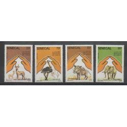 Sénégal - 1987 - No 694/697 - Animaux - World Wide Fund