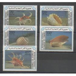 Comores - 1985 - No 421/425 - Animaux marins