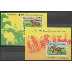 Togo - 1986 - No BF242/BF243 - Chevaux - Sports divers