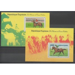 Togo - 1985 - No BF236/BF237 - Chevaux - Sports divers