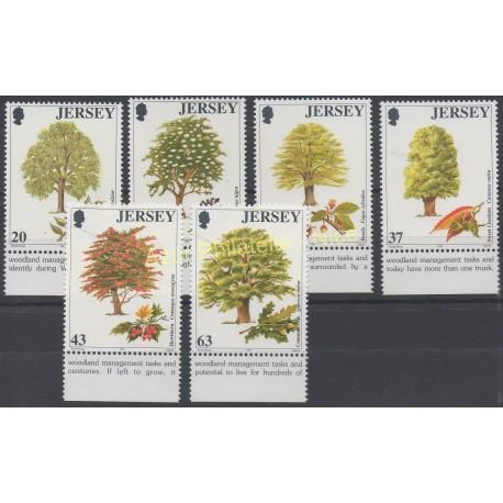 Jersey - 1997 - No 793/798 - Arbres
