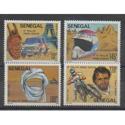 Sénégal - 1989 - No 785/788 - Sports divers - Voitures - Motos