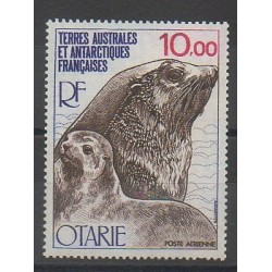French Southern and Antarctic Lands - Airmail - 1977 - Nb PA48 - Mamals - Sea animals