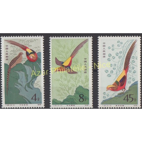 China - 1979 - Nb 2213/2215 - Birds