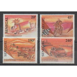Sénégal - 1997 - No 1269/1272 - Sports divers - Voitures - Motos