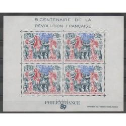 TAAF - Blocs et feuillets - 1989 - No BF1 - Révolution Française