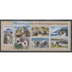 French Southern and Antarctic Lands - Blocks and sheets - 2010 - Nb BF23 - Mamals - Sea animals