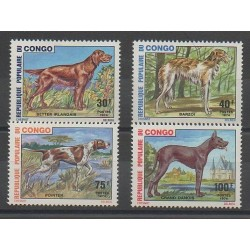 Congo (Republic of) - 1974 - Nb 347/350 - Dogs