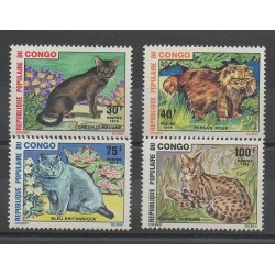 Congo (Republic of) - 1974 - Nb 351/354 - Cats