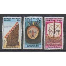 Congo (République du) - 1990 - No 872/874 - Masques ou carnaval