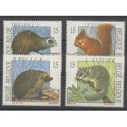 Belgique - 1992 - No 2477/2480 - Mammifères