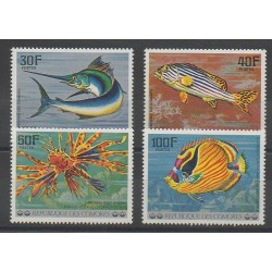 Comores - 1977 - No 191/194 - Animaux marins