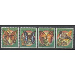 Comoros - 1989 - Nb 492/495 - Scouts - Insects