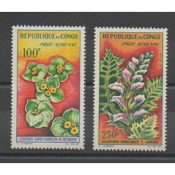 Congo (Republic of) - 1963 - Nb PA8/PA9 - Flowers