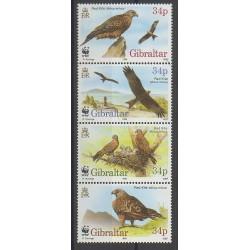 Gibraltar - 1996 - No 783/786 - Oiseaux - Espèces menacées - WWF