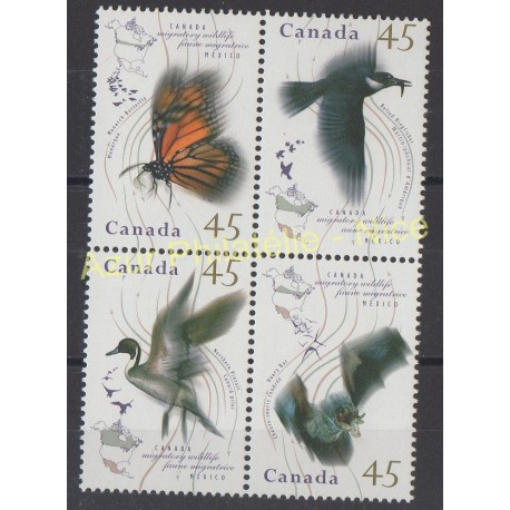 Canada - 1995 - No 1422/1425 - Oiseaux