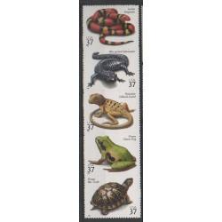 États-Unis - 2003 - No 3506/3510 - Reptiles
