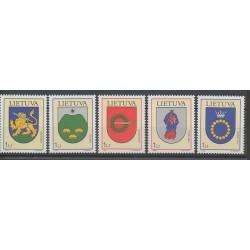 Lituanie - 2003 - No 705/709 - Armoiries