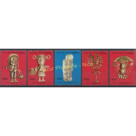 Pérou - 1972 - No 552/556 - Art