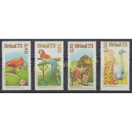 Brésil - 1973 - No 1084/1087 - Oiseaux