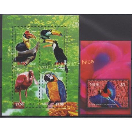 Niue - 2004 - No 786/789 - BF 138 - Oiseaux