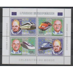 Congo (Democratic Republic of) - 2006 - Nb 1679/1682 - Europe - Celebrities - Trains