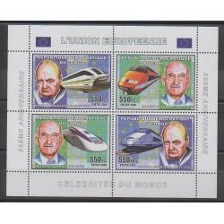 Congo (République démocratique du) - 2006 - No 1679/1682 - Europe - Célébrités - Trains