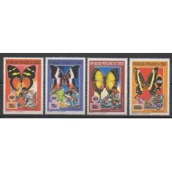 Congo (République du) - 1990 - No 881/883 - PA398 - Insectes - Scouts