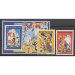 Congo (République du) - 1990 - No 884 - PA399 - BF46 - Insectes - Champignons - Scouts