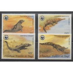 Congo (République du) - 1987 - No PA361/PA364 - Reptiles