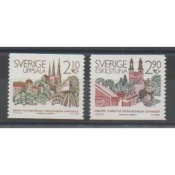 Suède - 1986 - No 1379/1380 - Monuments