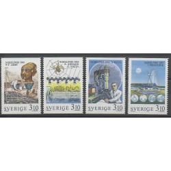 Suède - 1988 - No 1492/1495 - Sciences et Techniques